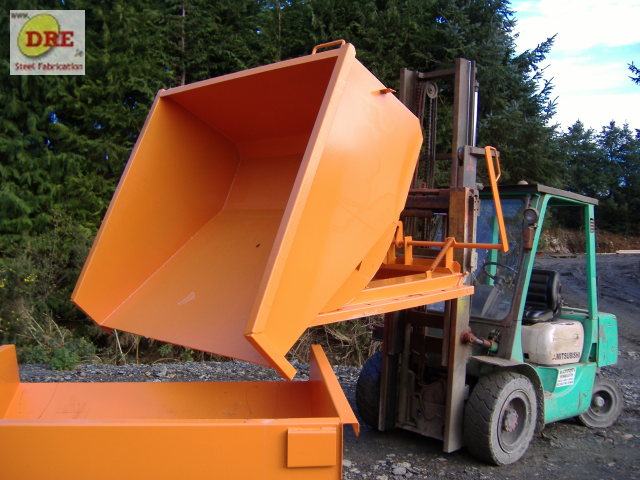 forklift tipping skips dre hire ireland